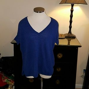 NWT Short sleeve cashmere top